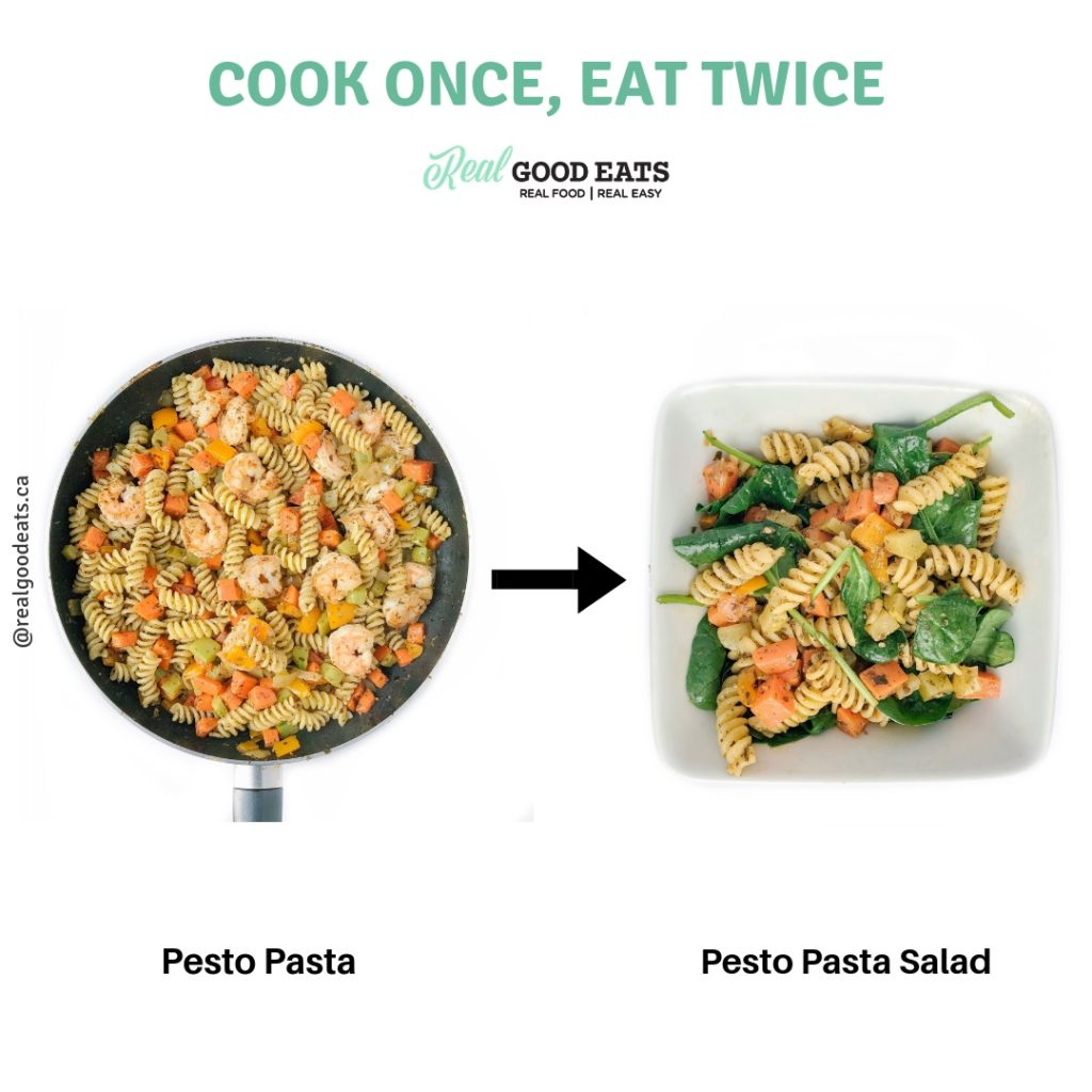 how to use leftover pasta - cold pasta salad