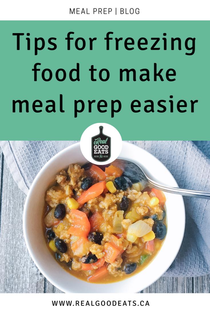 Tips for freezing food to make meal prep easier - blog image