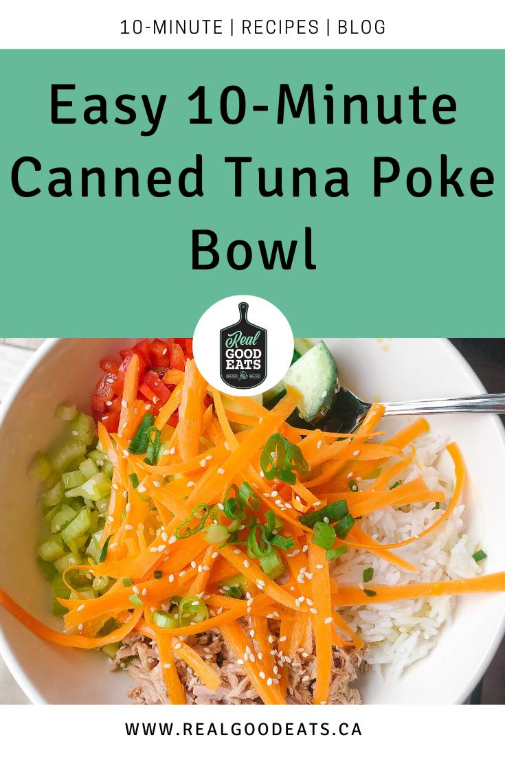 Easy 10-Minute Canned Tuna Poke Bowl