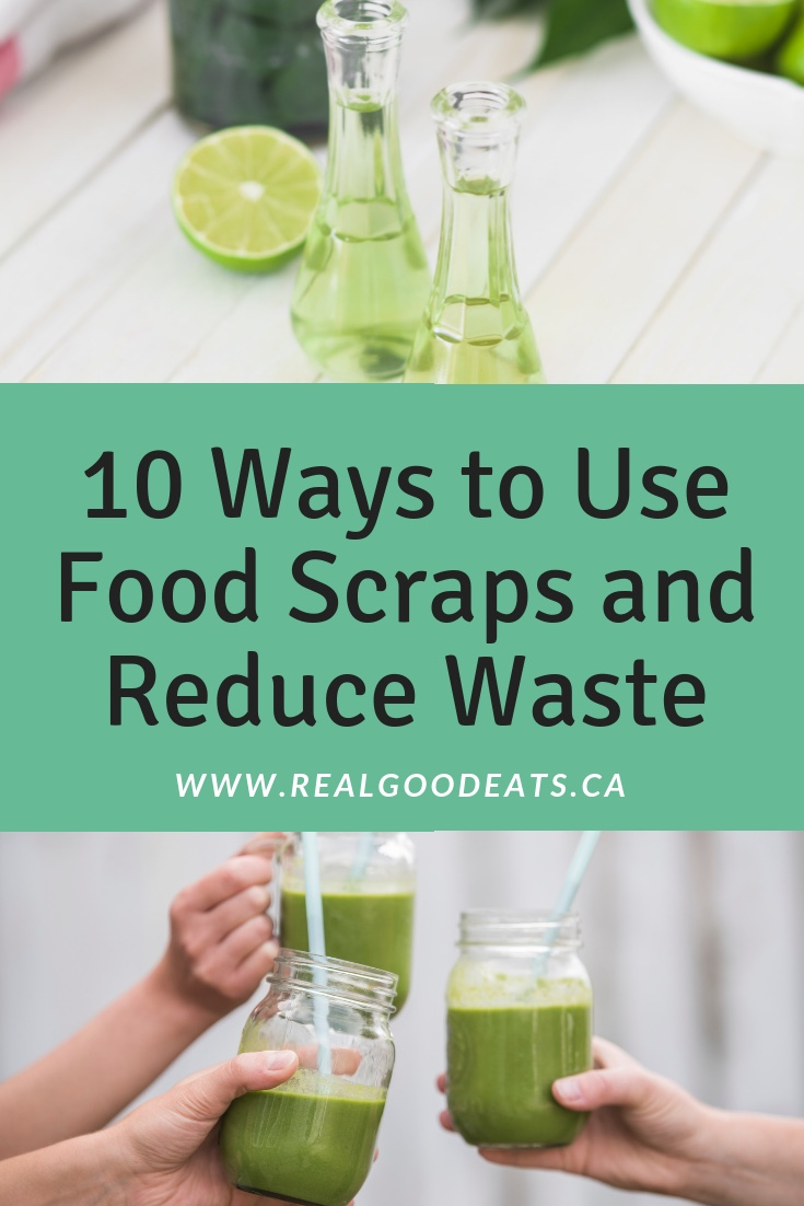 10 ways to use food scraps to reduce waste blog graphic