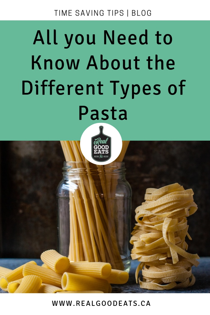 all you need to know about the different types of pasta blog graphic