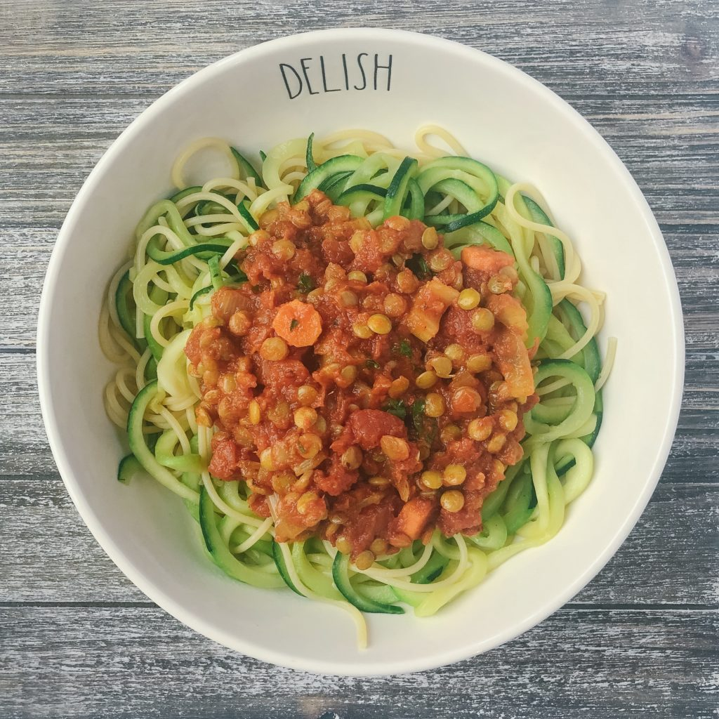 healthy weeknight pasta recipes - lentil bolognese