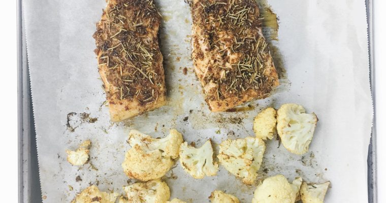 Recipe Review – Sheet Pan Salmon and Cauliflower with Spice Rub