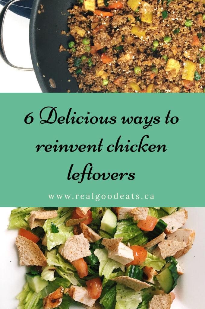 6 ways to use chicken leftovers blog graphic