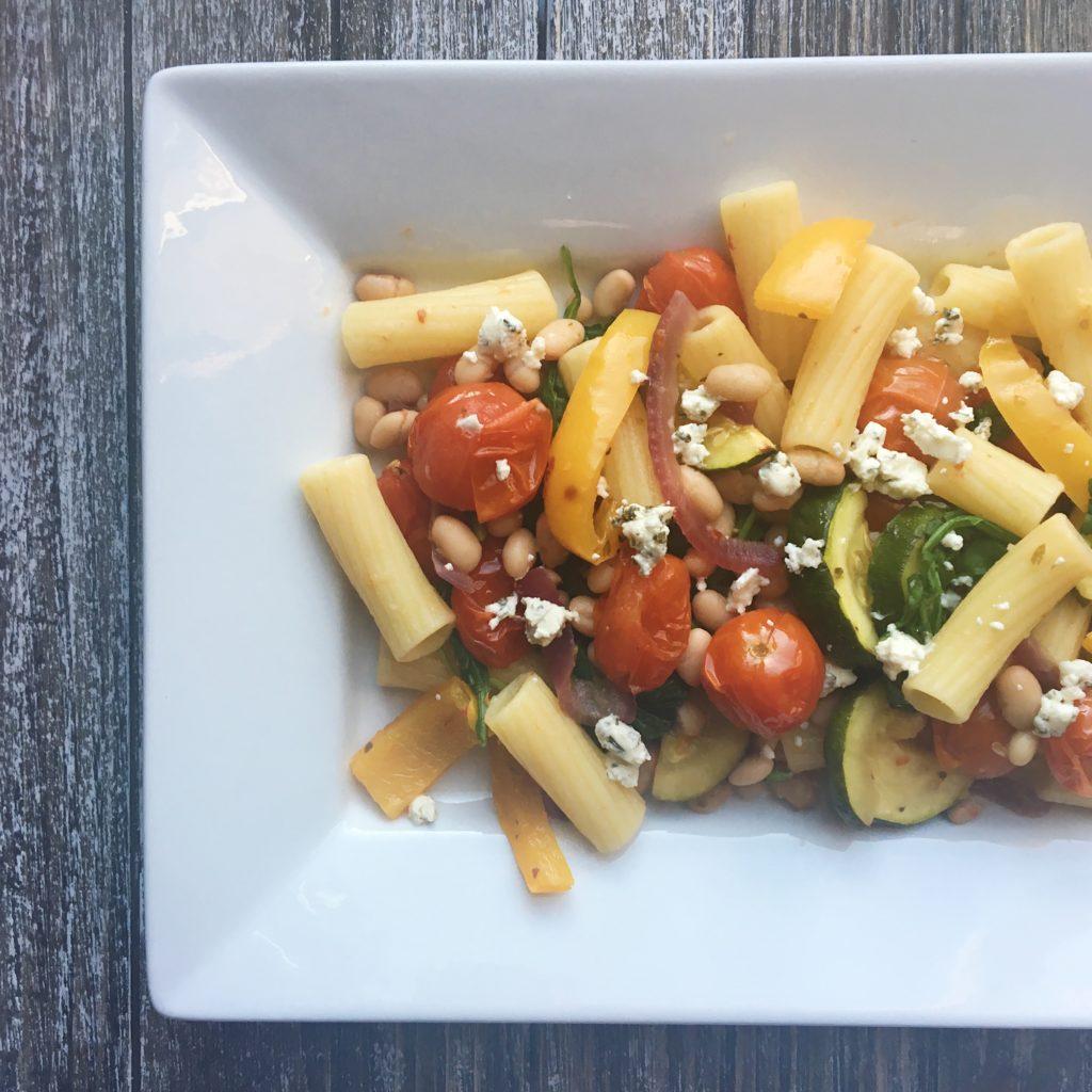 mediterranean grilled vegetable rigatoni