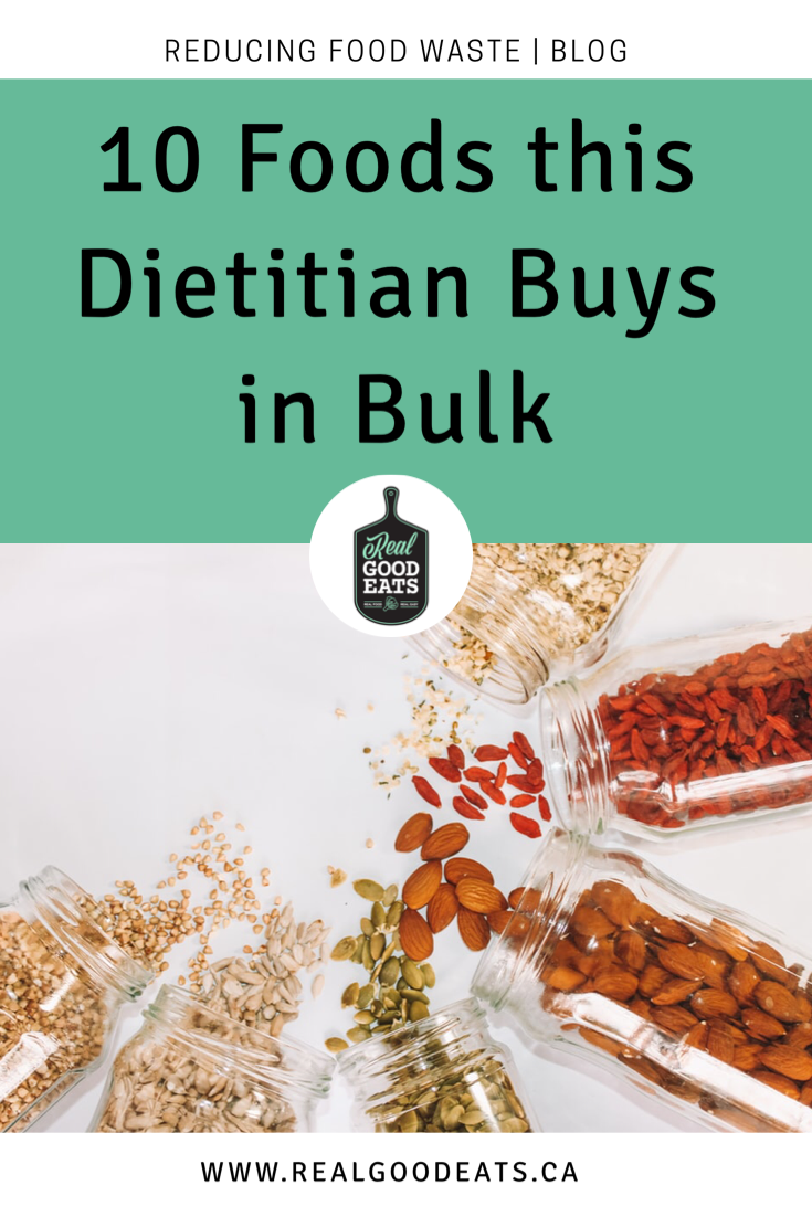 10 foods this registered dietitian buys from the bulk food store
