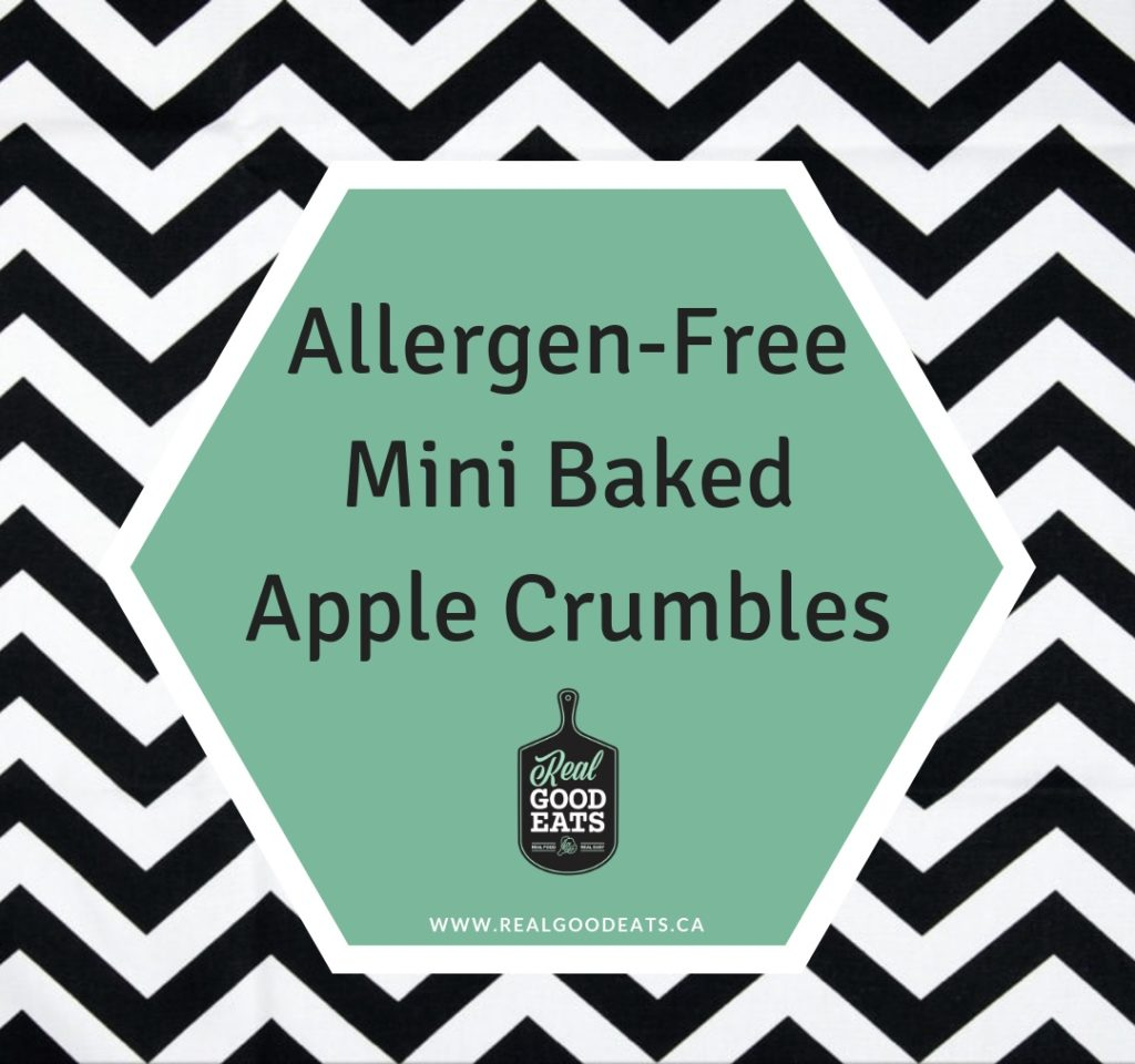 allergen-free mini baked apple crumbles - blog graphic
