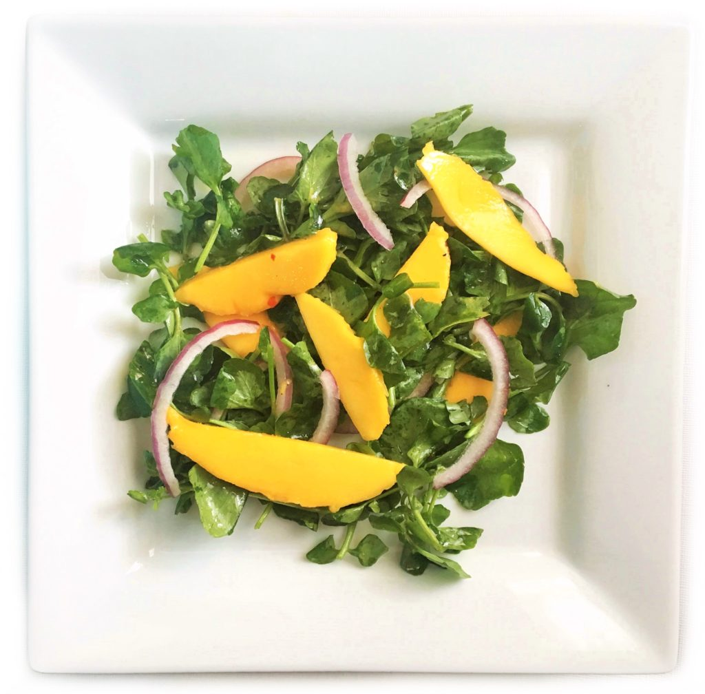 20-minute healthy dinner recipes - seared tilapia with watercress mango salad