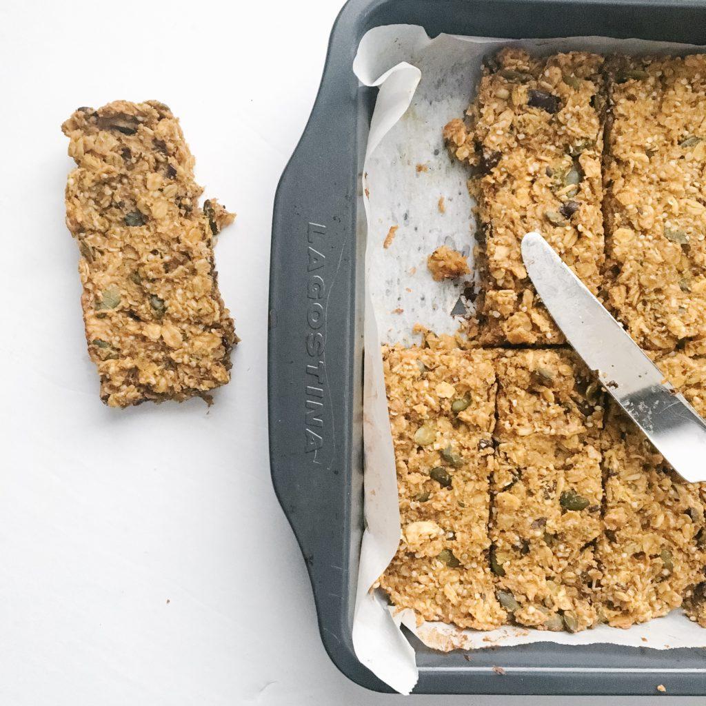 chewy pumpkin hemp granola bars - ways to use pumpkin