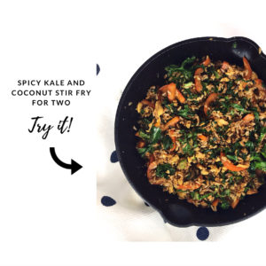 tips that make meal planning for one easier - spicy kale coconut stir fry