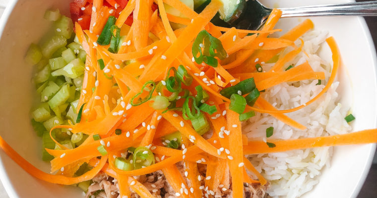 Easy 10-Minute Canned Tuna Poke Bowl Recipe