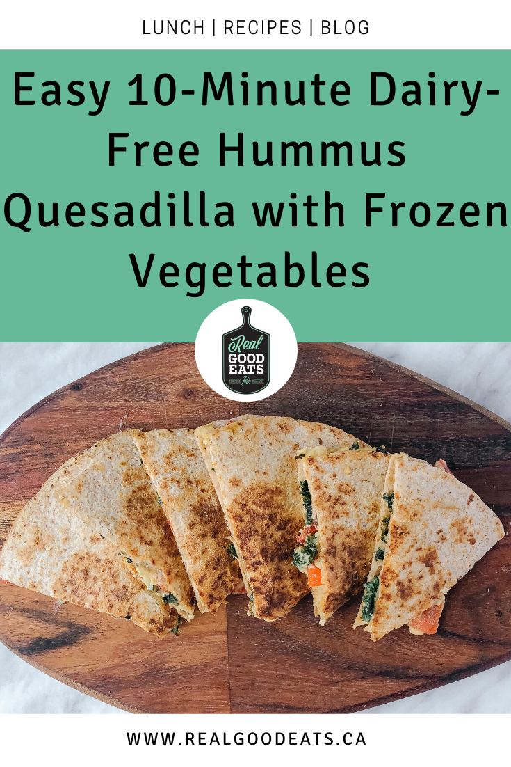 Easy 10-Minute Dairy-Free Hummus Quesadilla with Frozen Vegetables