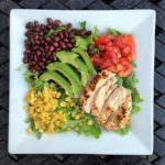 tex-mex salad with spicy chipotle dressing