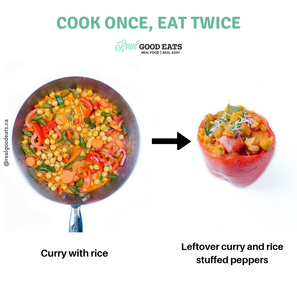 how to use leftover curry and rice - leftover curry and rice stuffed peppers