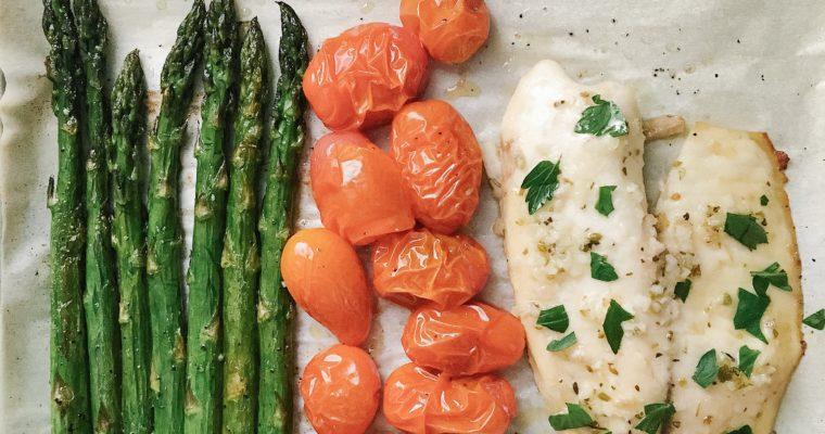 Recipe Review – Sheet Pan Garlic Butter Tilapia