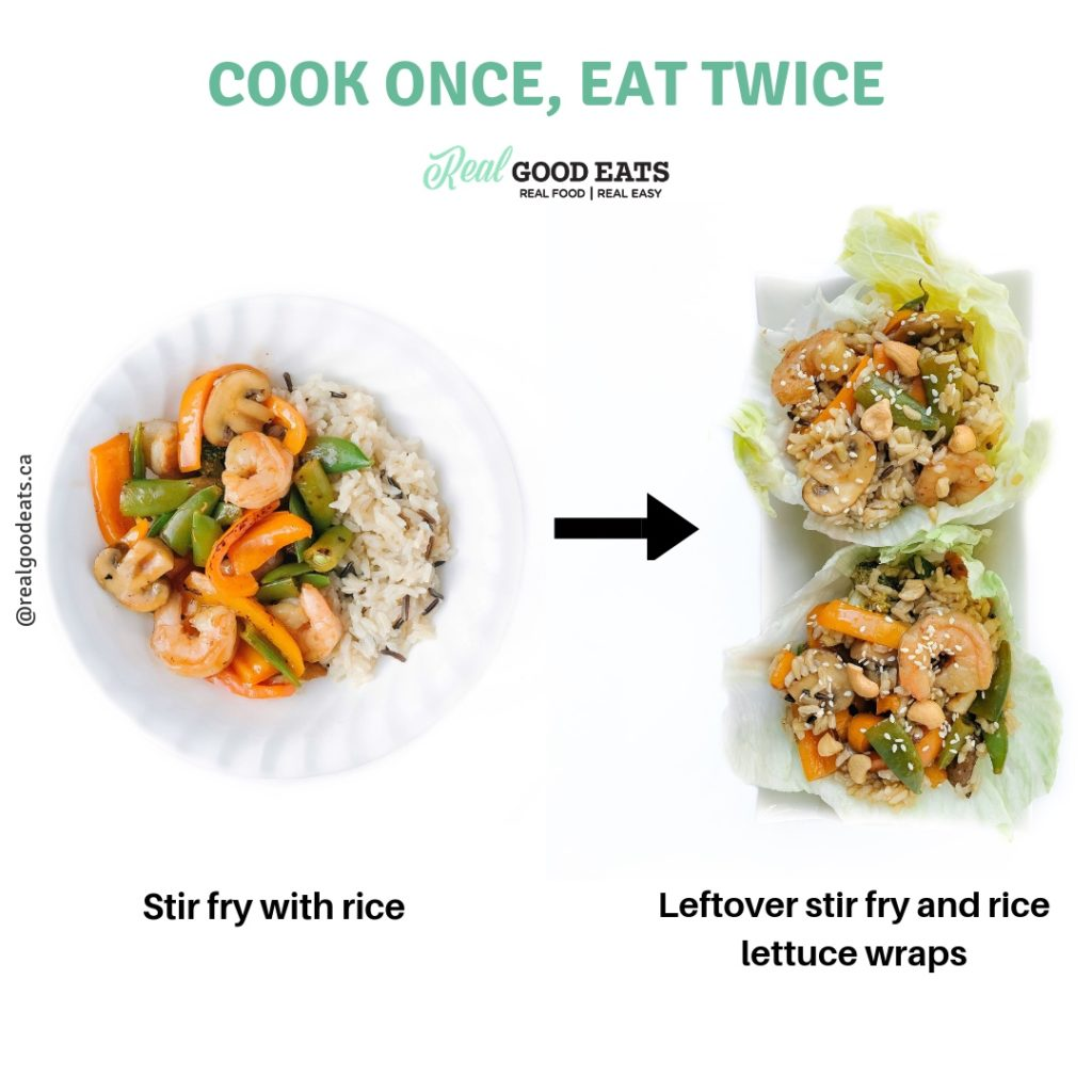 How to Reinvent your Leftovers and Cut Your Cooking in Half - lettuce wraps