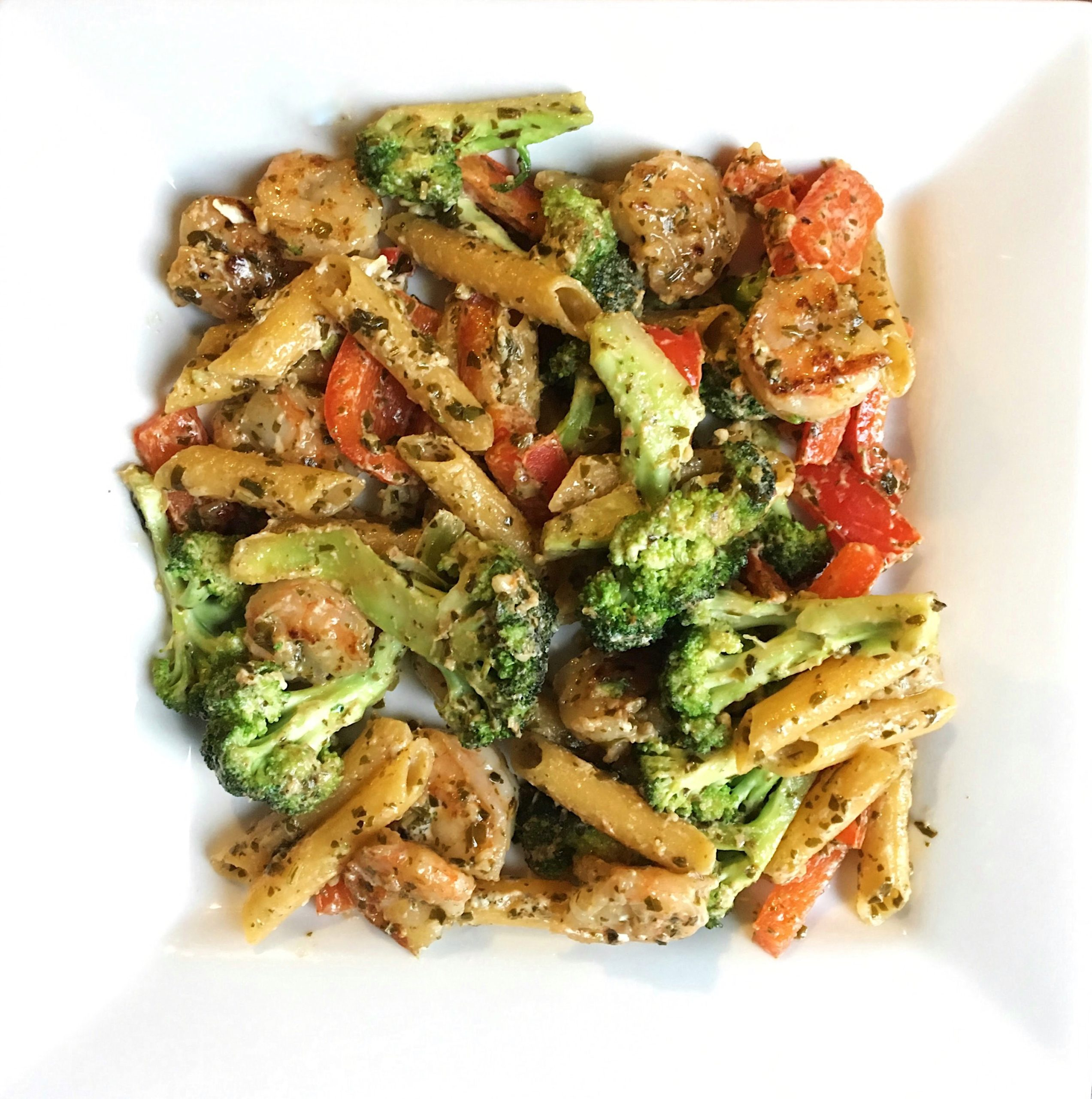 Quick and Easy Shrimp Pesto Pasta