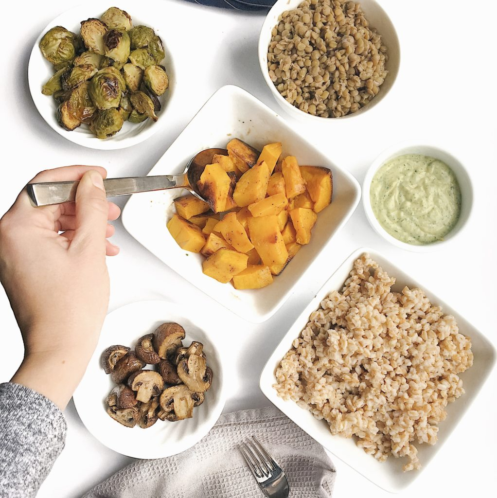 catch-all meals - mix and match buddha bowls