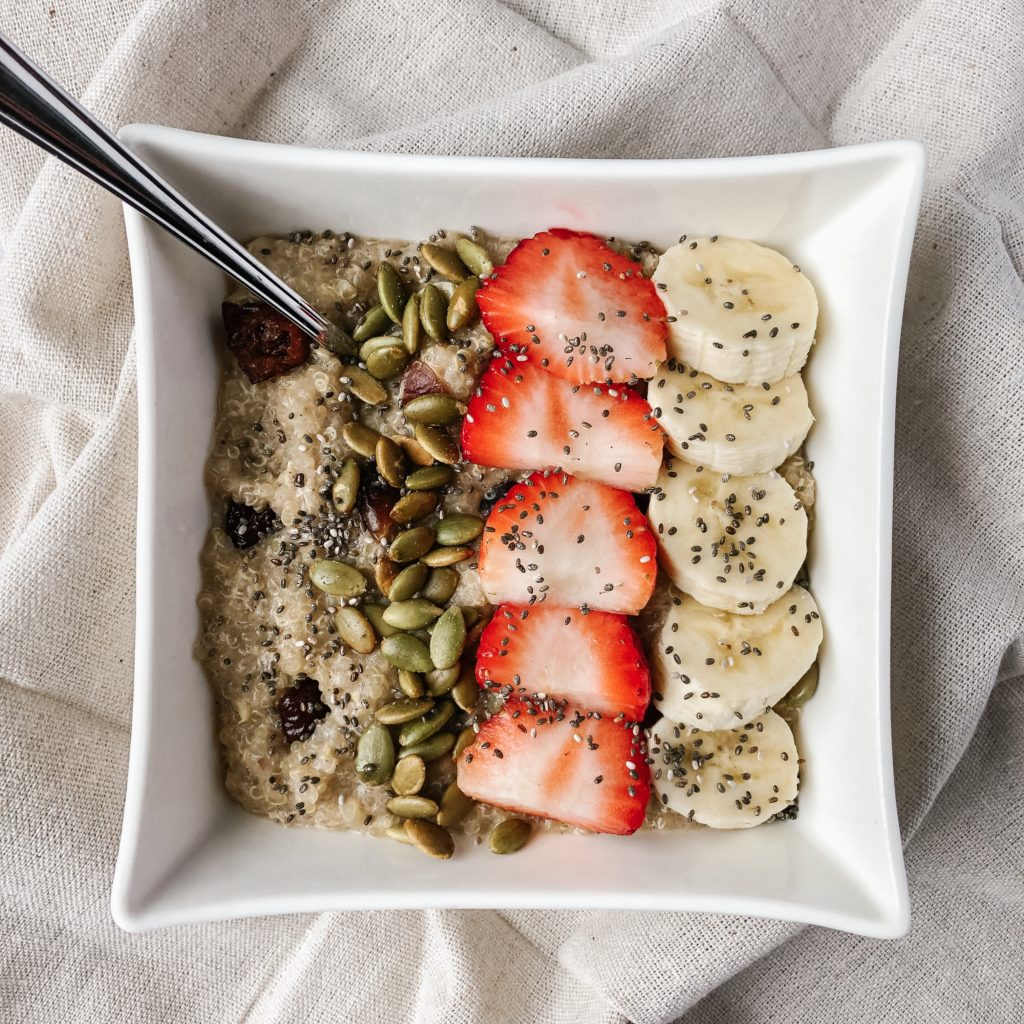 ways to use leftover quinoa - warm leftover quinoa breakfast bowls