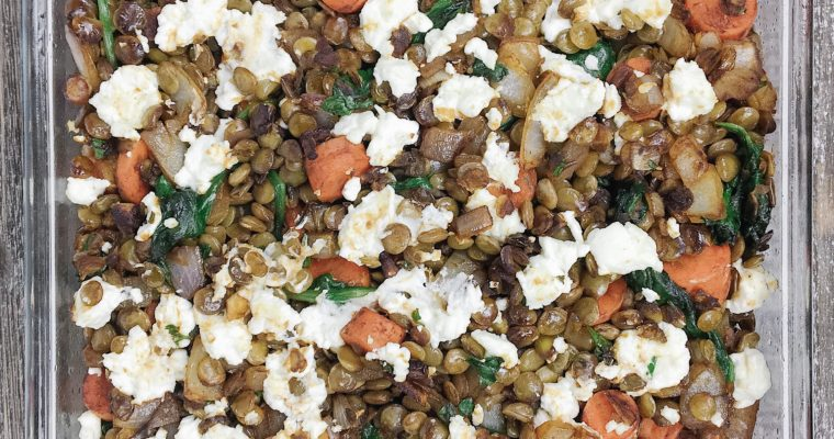 Recipe Review – Lentil and Goat Cheese Casserole