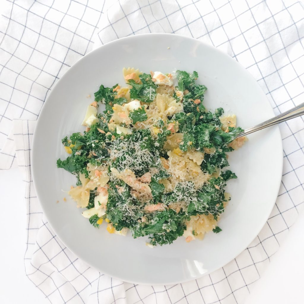 10 Healthy Dinner Recipes Using 6-Ingredients or Less - Kale Salmon Caesar Salad