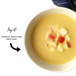 try it - parsnip, apple and brie soup