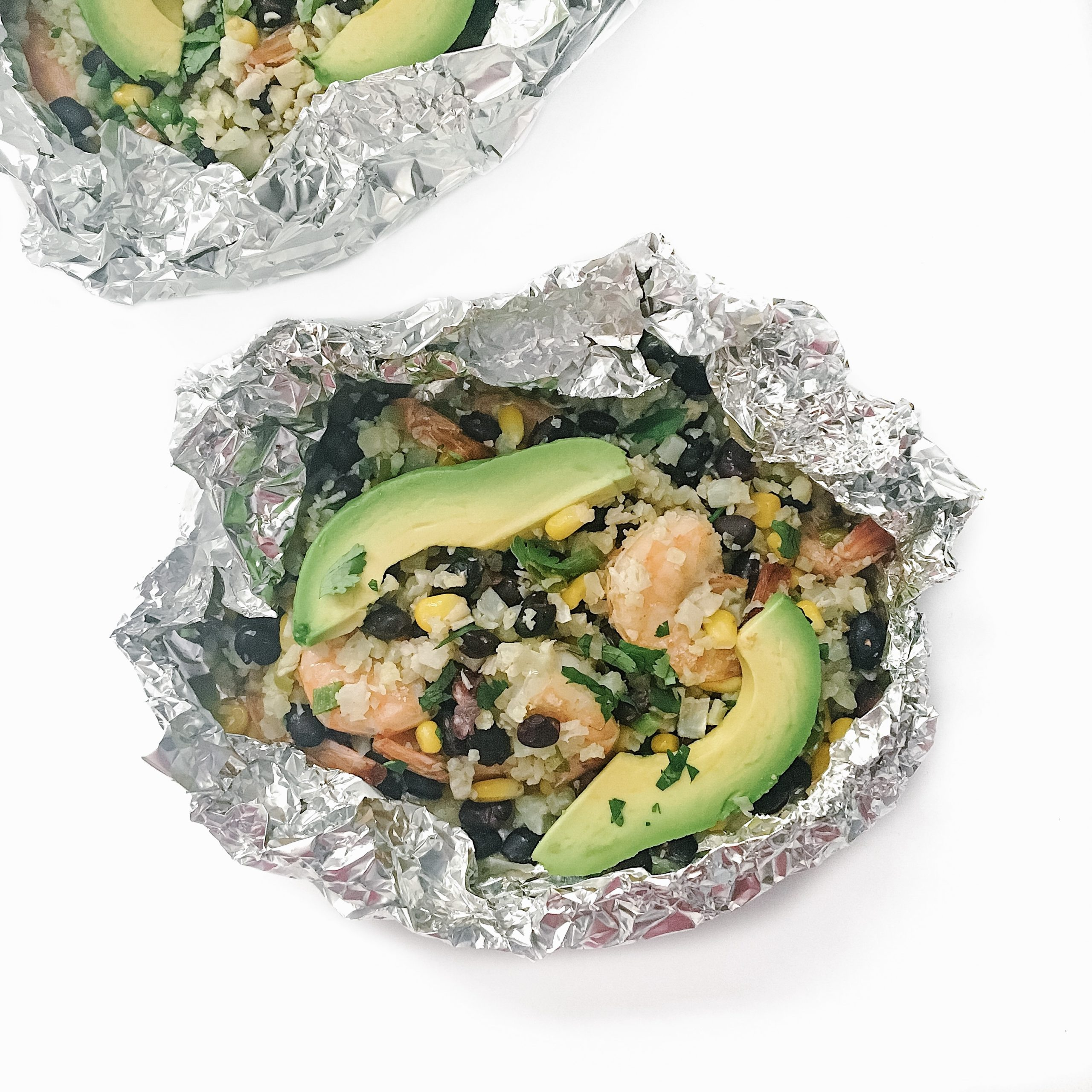 Recipe Review – Cilantro Lime Shrimp and Cauliflower Rice Foil Packets
