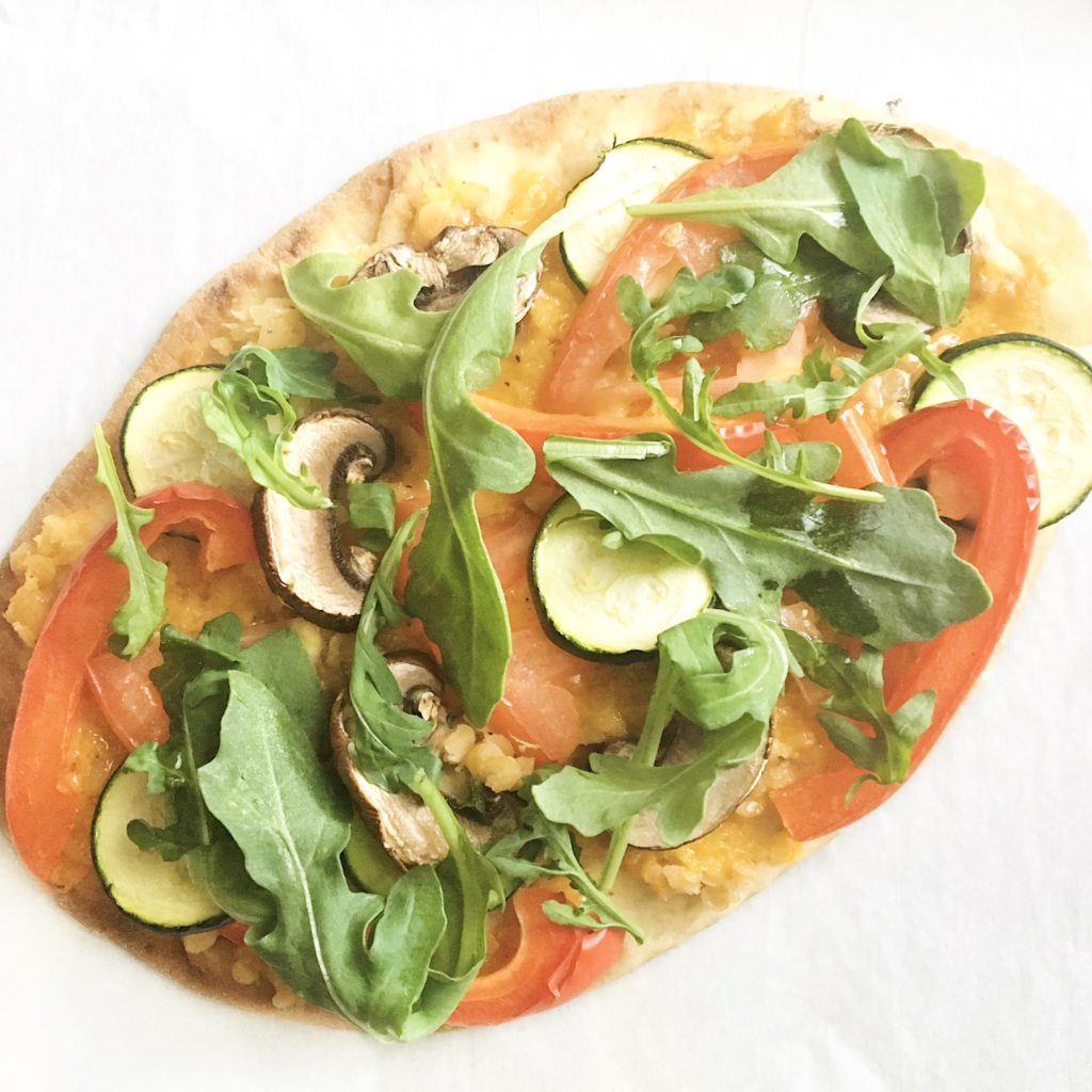 Quick and easy naan bread pizza