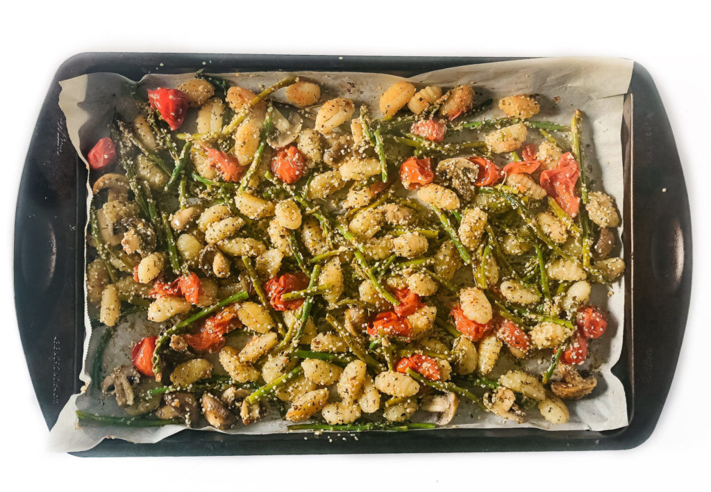 Finished recipe on a sheet pan