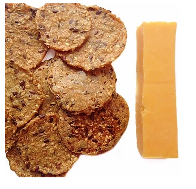 cheese and whole grain crackers