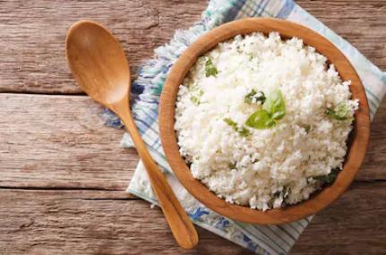 how to use food scraps - cauli rice