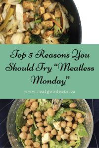 top 5 reasons to try meatless monday