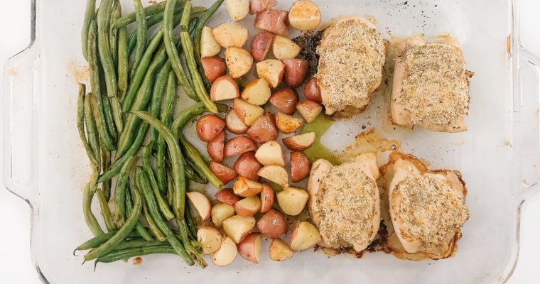 One-Pan Honey Mustard Chicken and Veggies