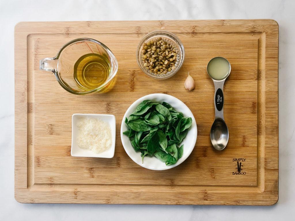 Lentil Pesto Ingredients