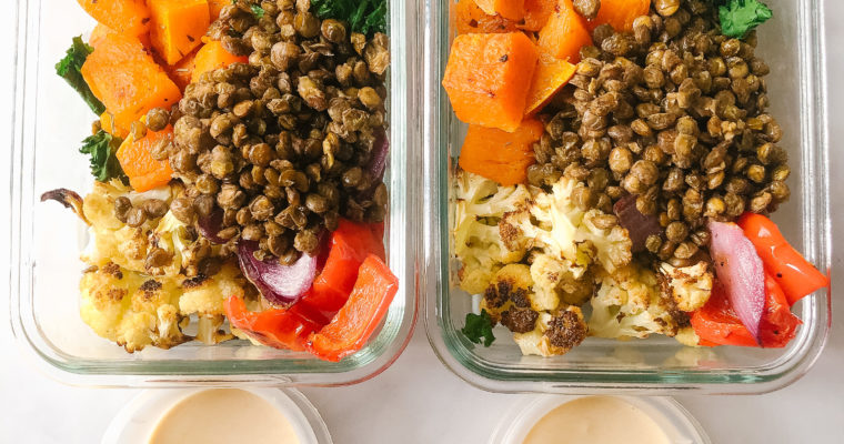 Meal Prep Roasted Veggie Buddha Bowls