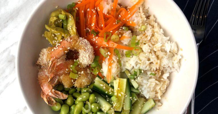 Crispy Shrimp Sushi Bowls