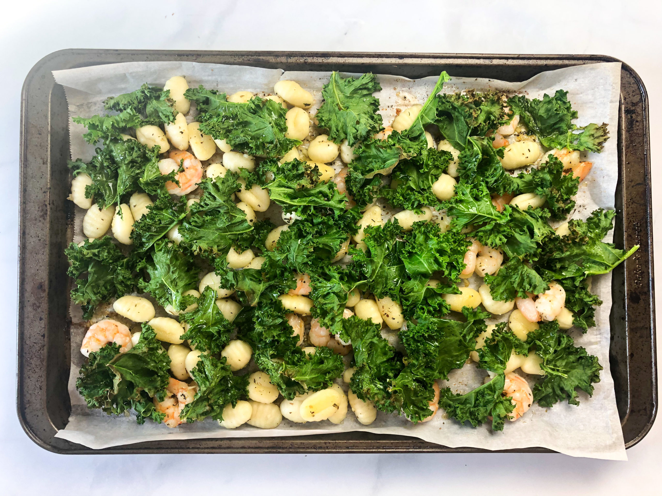 20-Minute Garlicky Shrimp and Kale Gnocchi