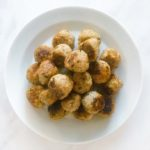 easy 3-ingredient pesto meatballs