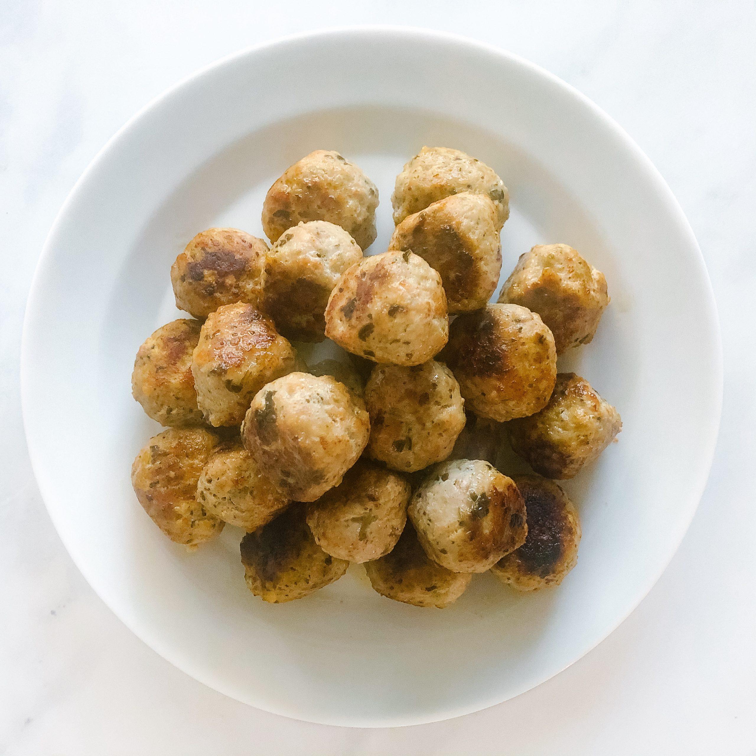 Easy 3-Ingredient Pesto Meatball Recipe