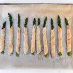 lemon parmesan phyllo wrapped asparagus