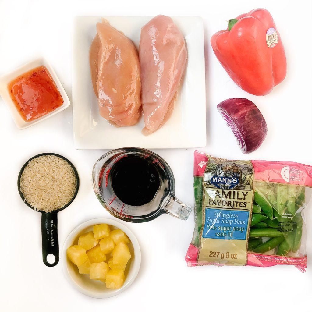 sweet chili stir fry ingredients