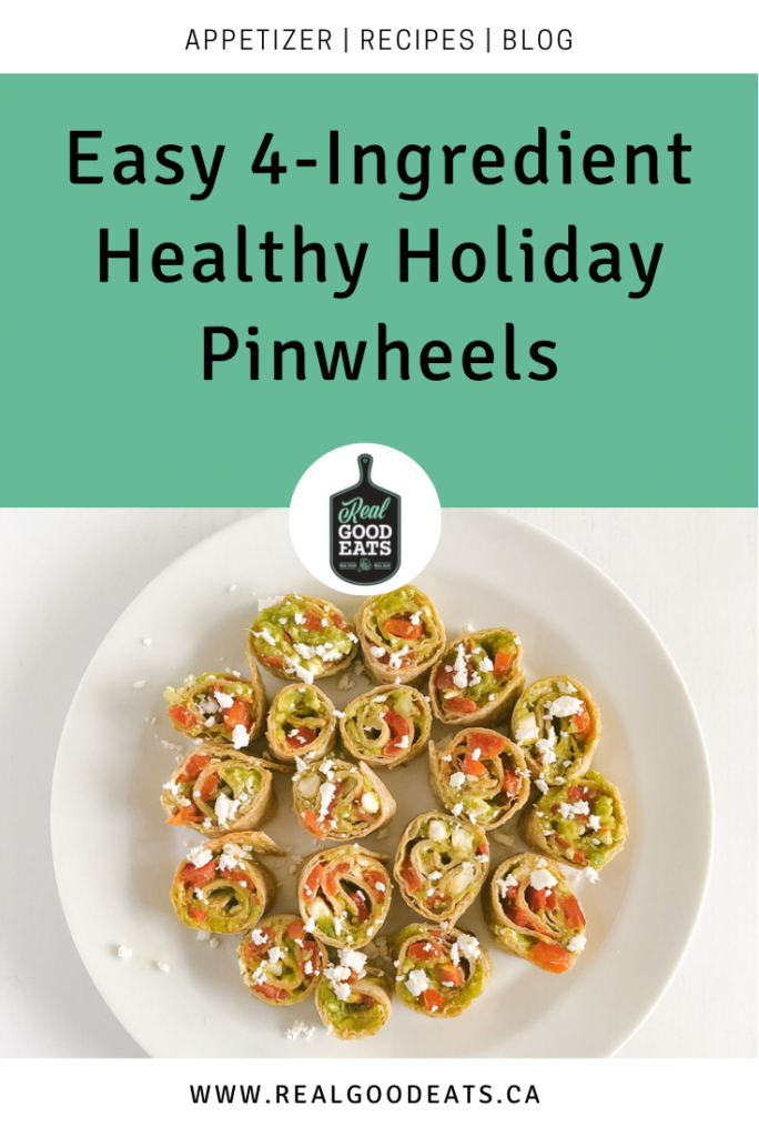 Easy 4-Ingredient Healthy Holiday Pinwheels