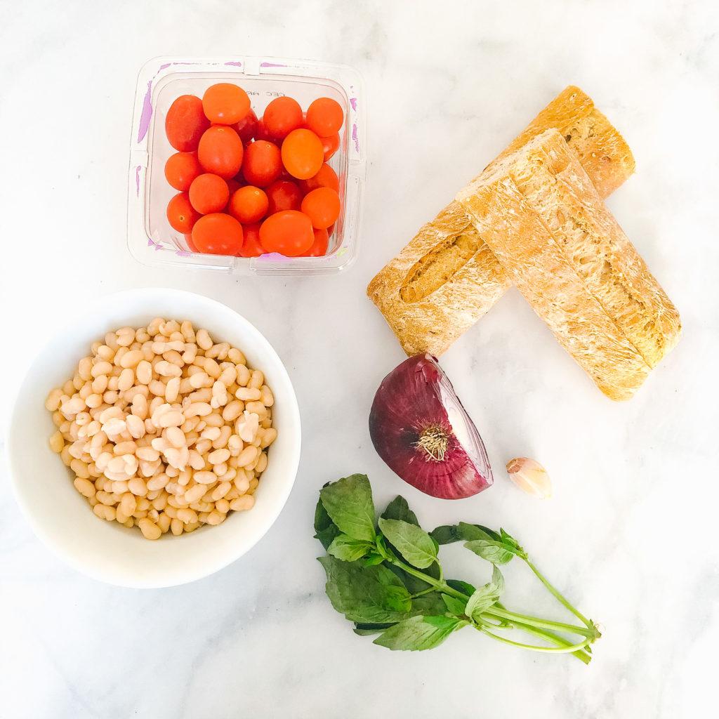 bruschetta with white bean spread ingredients