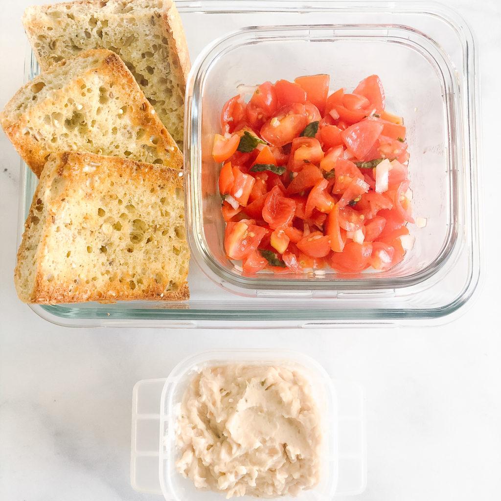 bruschetta with white bean spread