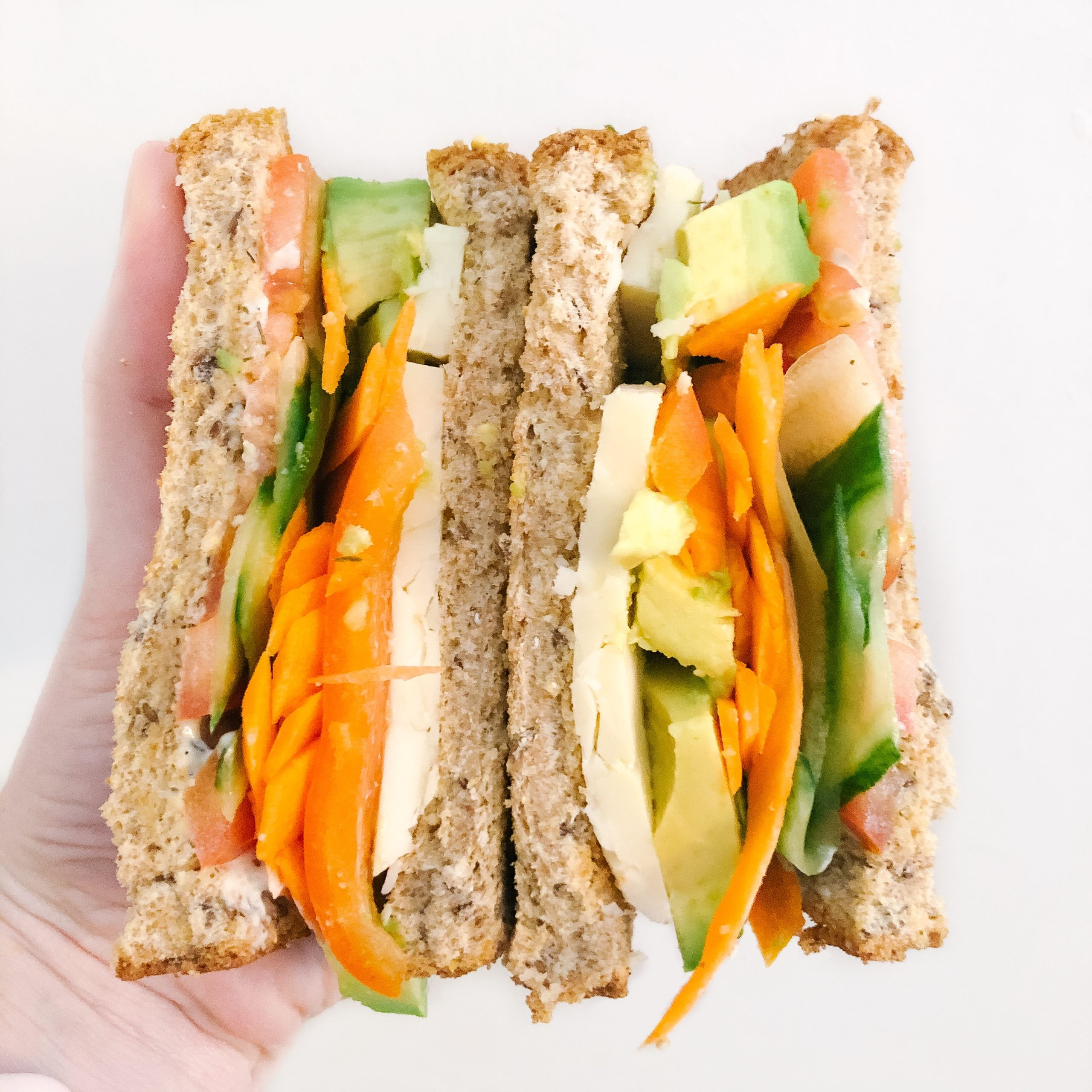 Easy Veggie Loaded Sandwich