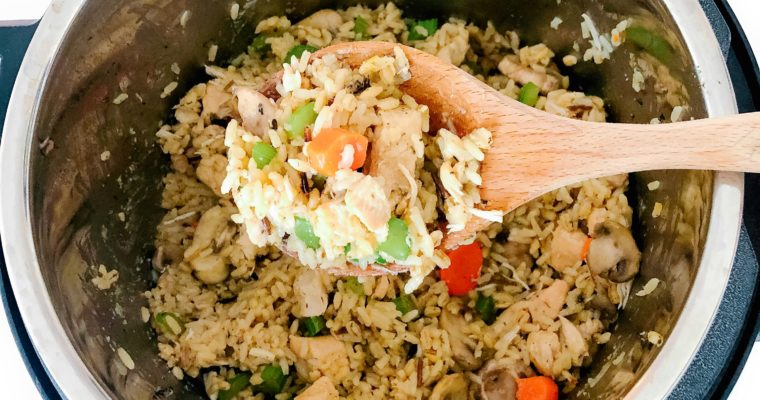 Instant Pot Chicken, Rice, and Vegetable Pilaf
