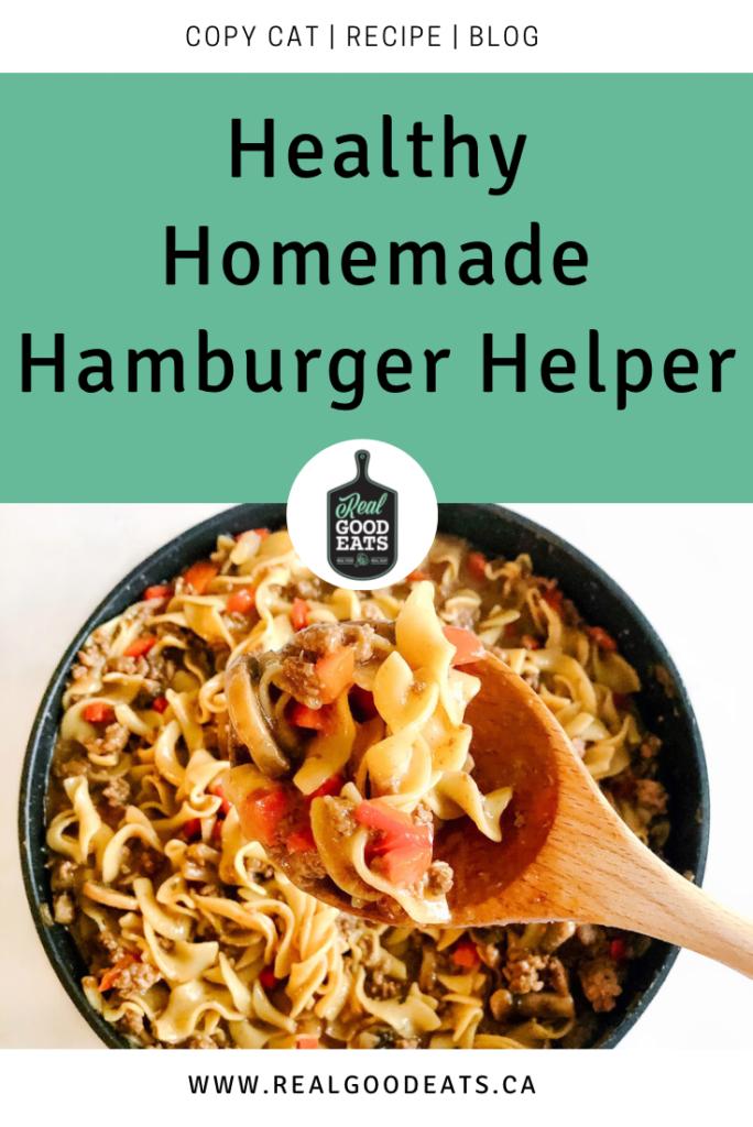 healthy homemade hamburger helper - blog graphic