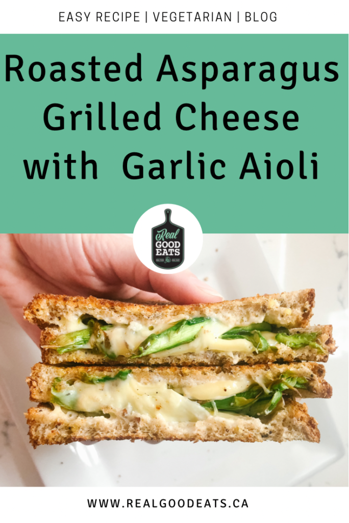 Roasted Asparagus Grilled Cheese with Garlic aioli