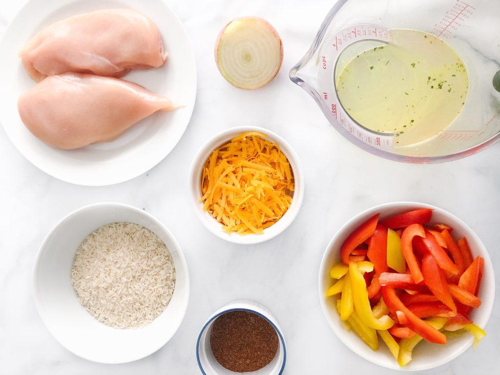 one pan fajita rice casserole ingredients