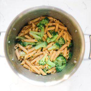 easy one-pot frozen vegetable pasta